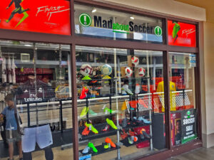 Mad About Soccer Bayside Marketplace Storefront Window