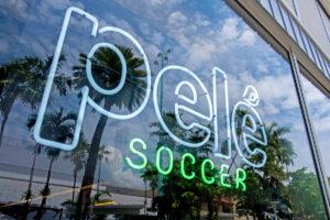 Pele Soccer Miami Beach Sign