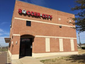 Soccer City Frisco Storefront Entry