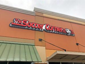 The Soccer Corner Lewisville Sign